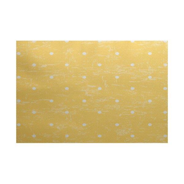 Golden Beach Yellow Indoor/Outdoor Area Rug by Bay Isle Home