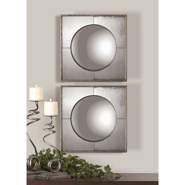Colne 2 Piece Mirror Set (Set of 2) by World Menagerie