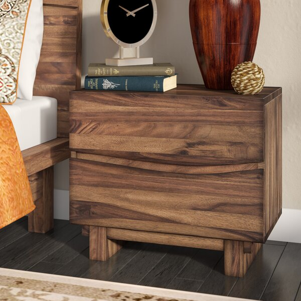 Hiram 2 Drawer Nightstand by Mistana