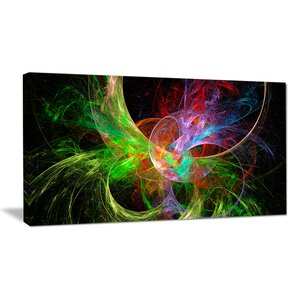 'Multi-Color Fractal Abstract Design' Graphic Art on Wrapped Canvas by Design Art
