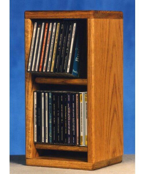 200 Series 28 CD Multimedia Tabletop Storage Rack by Wood Shed