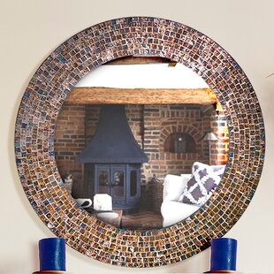 Savings Decorative Embossed Glass Mosaic Tile Wall Mirror By DecorShore