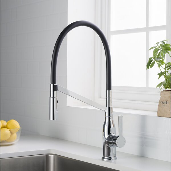 Murray Pull Out Single Handle Kitchen Faucet by Latitude Run