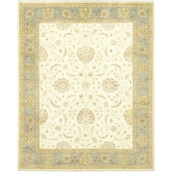 One-of-a-Kind Corrado Hand-Knotted Wool Beige Indoor Area Rug by Astoria Grand
