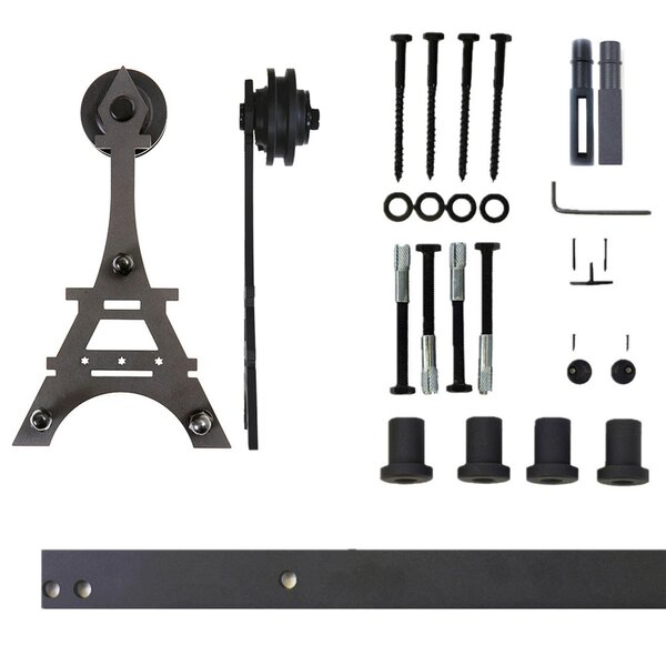 Single Eiffel Barn Door Hardware by Vancleef