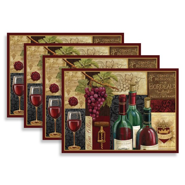 Cannock Wine Cellar 18 Placemat (Set of 4) by Fleur De Lis Living