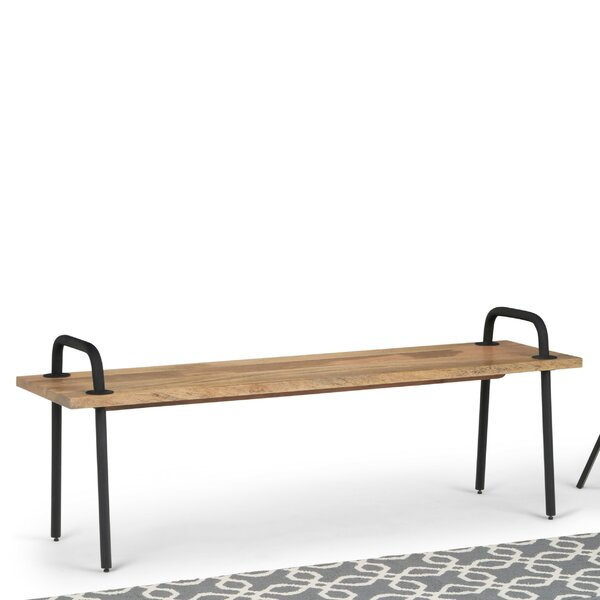 Sotelo Solid Mango Wood Bench by 17 Stories