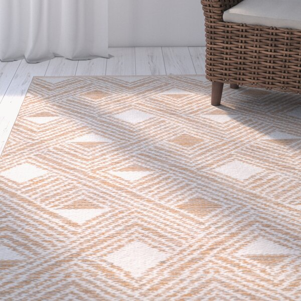 Cloutier Hand-Woven Peach/Ivory Area Rug by The Twillery Co.