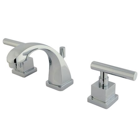 Claremont Widespread faucet Bathroom Faucet with Drain Assembly by Kingston Brass