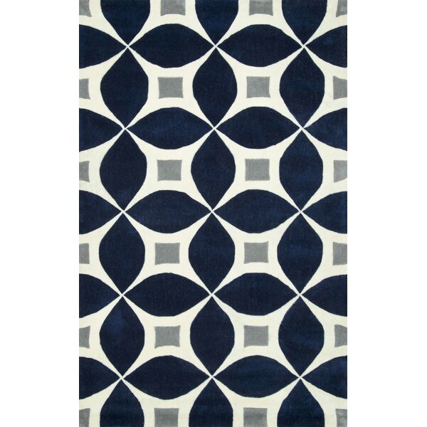 Jamar Handmade Navy Blue/Gray Area Rug by Langley Street