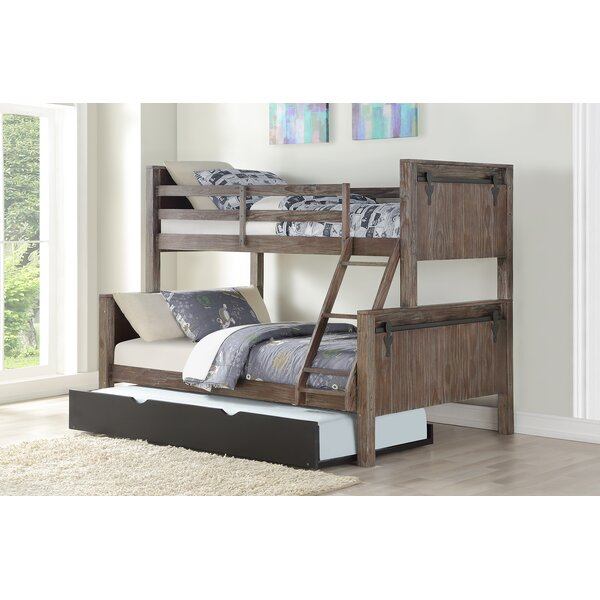 Colgan Barn Twin Over Full Bunk Bed with Trundle by Harriet Bee