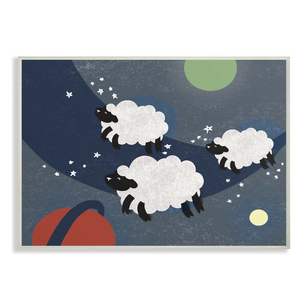 Fearon Sheep in Space Decorative Plaque by Harriet Bee