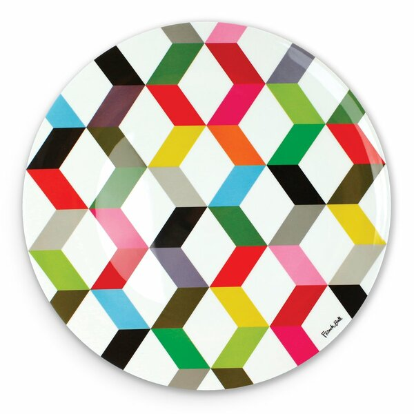 Ziggy Round Melamine Platter by French Bull