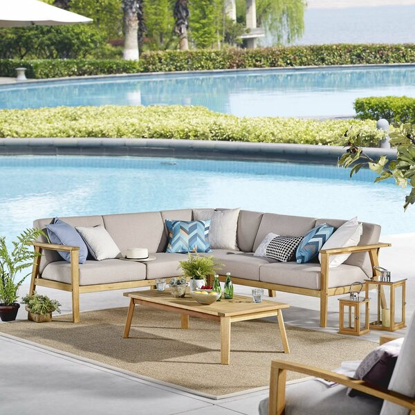 Rosnov 2 Pieces Sectional Seating Group Brayden Studio W002596215