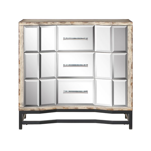 Khadeejah 3 Drawer Mirrored Accent Chest