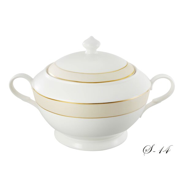 La Luna Bone China Soup Tureen by Lorren Home Trends