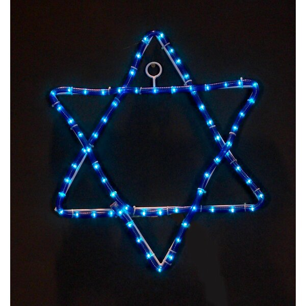 Jewish Star Rope Light by The Holiday Aisle