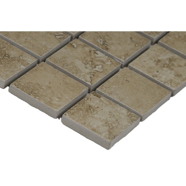 Venice 2 x 2 Porcelain Mosaic Tile in Cream by MSI