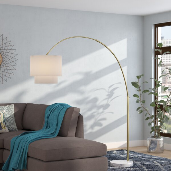 Alexia 74 Arched/Arc Floor Lamp by Langley Street