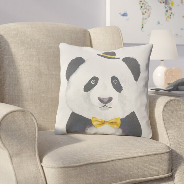 Cooke Panda Cotton Throw Pillow by Harriet Bee