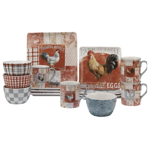 Ellecourt 16 Piece Dinnerware Set, Service for 4 by August Grove