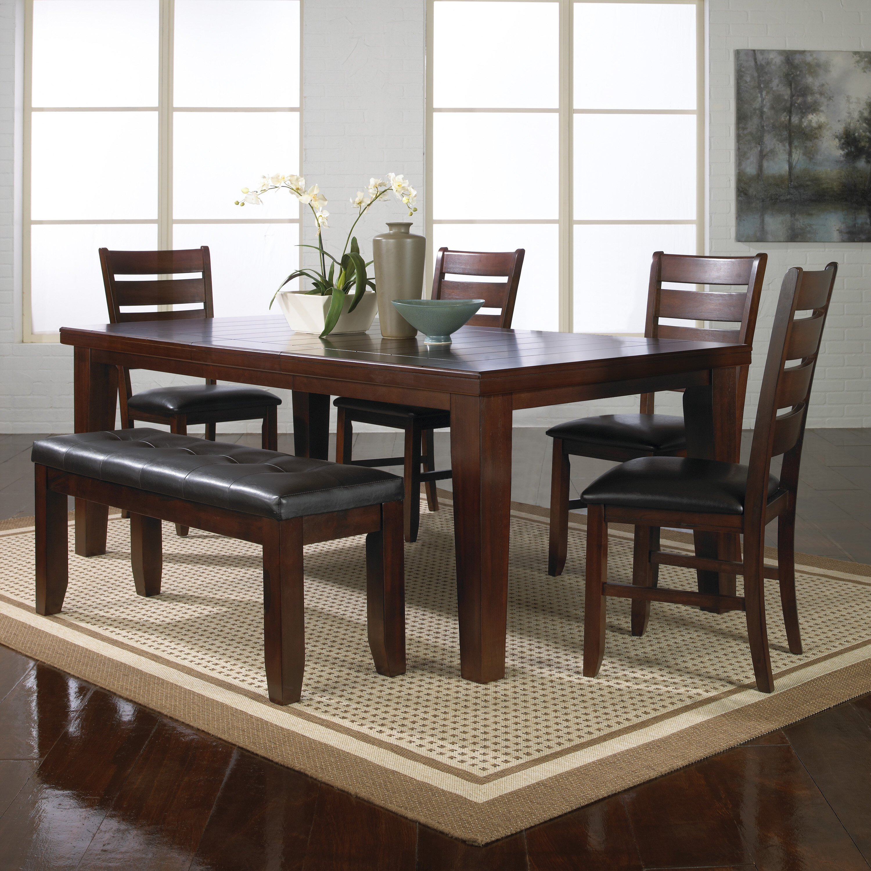 Stephentown 4 Piece Solid Wood Dining Set