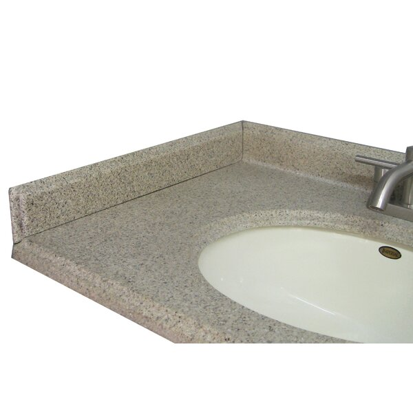 22 X 3 Left Hand Side Splash in Cappuccino by Satin Stone
