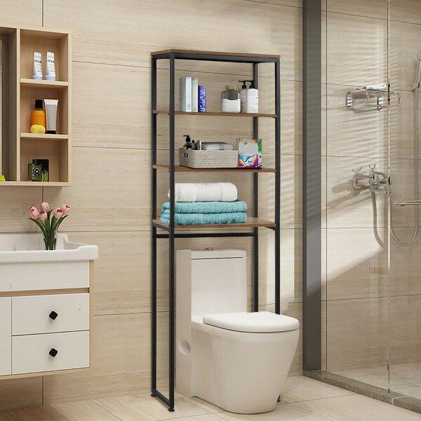 Riggio 23.5'' W x 69.5'' H x 9.5'' D Over-the-Toilet Storage