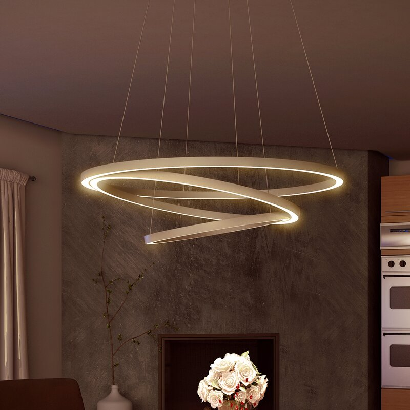 Wade Logan Chifdale Trio 3-Light LED Geometric Chandelier & Reviews ...
