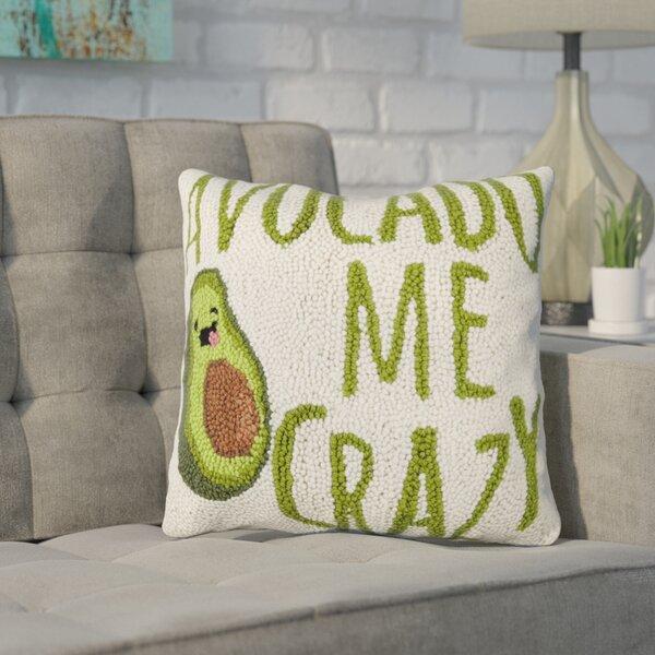 Duren Avocado Me Crazy Wool Throw Pillow by Wrought Studio