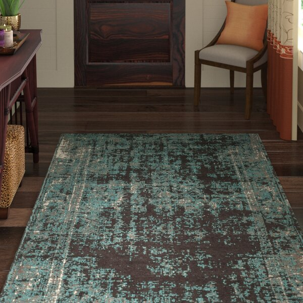 Khemis Blue/Brown Area Rug by World Menagerie