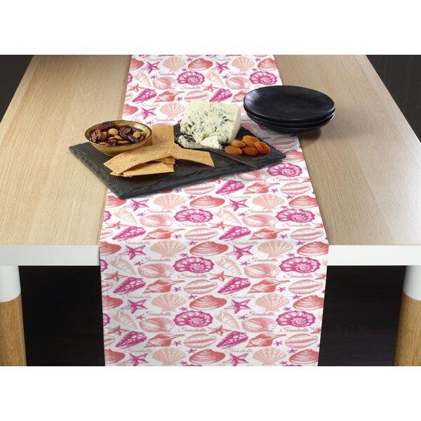 Sharina Seashells Milliken Signature Table Runner by Highland Dunes