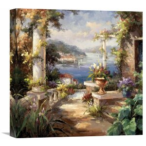 Pompeii Terrace' by Horwich Painting on Wrapped Canvas by Global Gallery