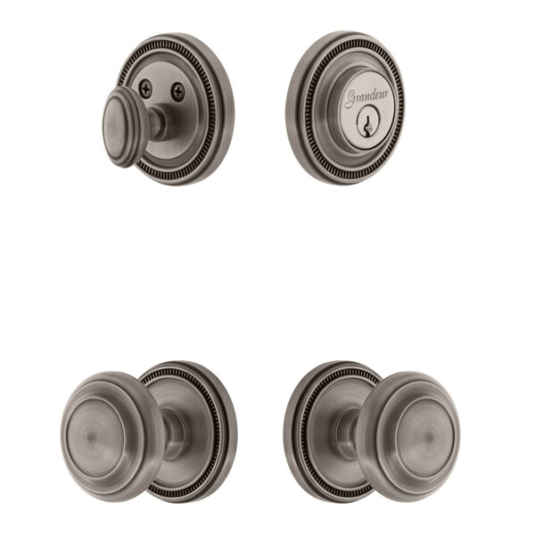 Soleil Single Cylinder Knob Combo Pack by Grandeur