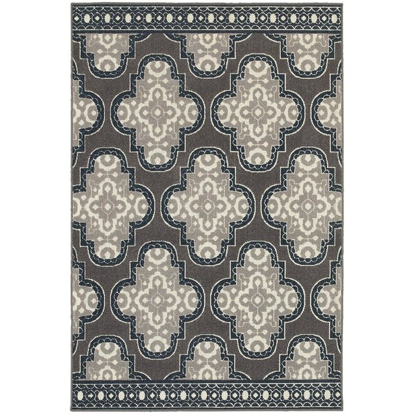 Brookline Grey/Navy Area Rug by Threadbind