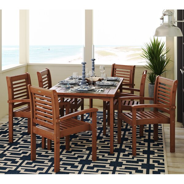 Flinn 7 Piece Dining Set by Beachcrest Home
