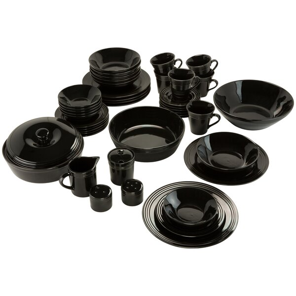 Amos 43 Piece Dinnerware Set, Service for 6 by Charlton Home
