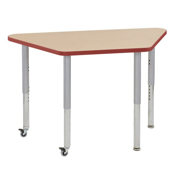 Maple Trapezoid Thermo-Fused Contour Adjustable 24 x 48 Trapezoidal Activity Table by ECR4kids