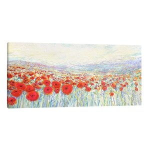 Poppies of Oz by Iris Scott Painting Print on Wrapped Canvas by Jaxson Rea