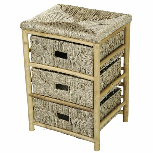 Elmira Bamboo 3 DrawerAccent Chest by Bay Isle Home Bay Isle Home
