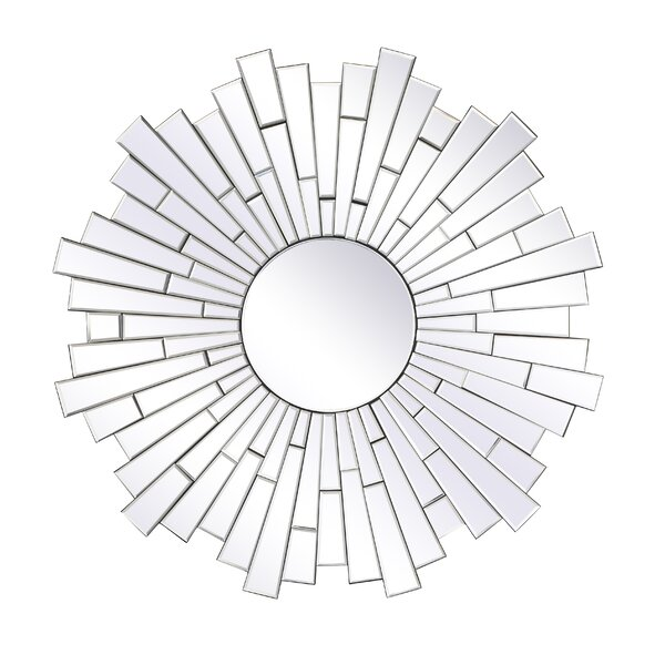 Langley Round Accent Mirror by Orren Ellis