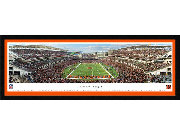 NFL Cincinnati Bengals - End Zone by Chris Gjevre Framed Photographic Print by Blakeway Worldwide Panoramas, Inc