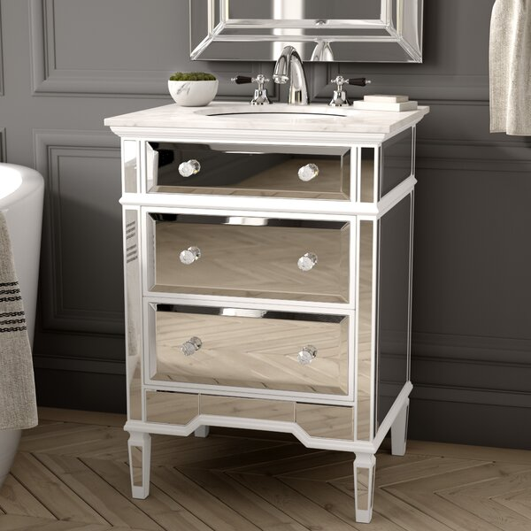 Maybery 25 Marble Single Bathroom Vanity Set by Greyleigh