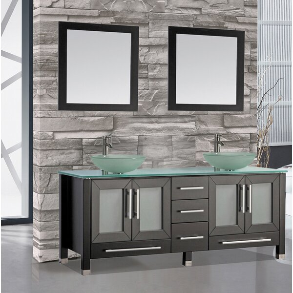 Prado 61 Double Bathroom Vanity Set with Mirrors by Orren Ellis