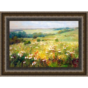 In Bloom & Landscape 'Wildflower Meadow' Framed Painting Print by Ashton Wall Décor LLC