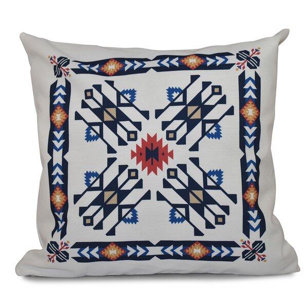 Meetinghouse Jodhpur Border 4 Geometric Print Throw Pillow by Bungalow Rose