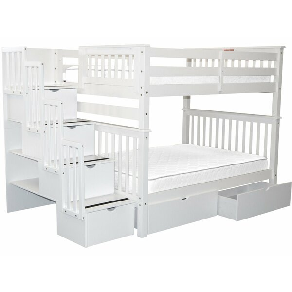 Tena Full Over Full Bunk Bed with Drawers by Harriet Bee