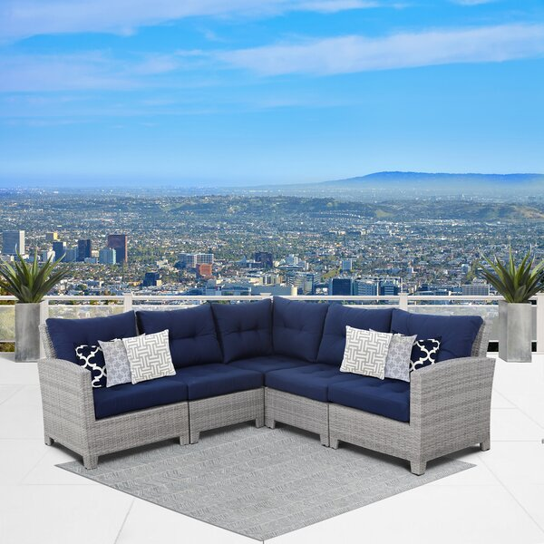 Cicero 5 Piece Sectional by Sol 72 Outdoor