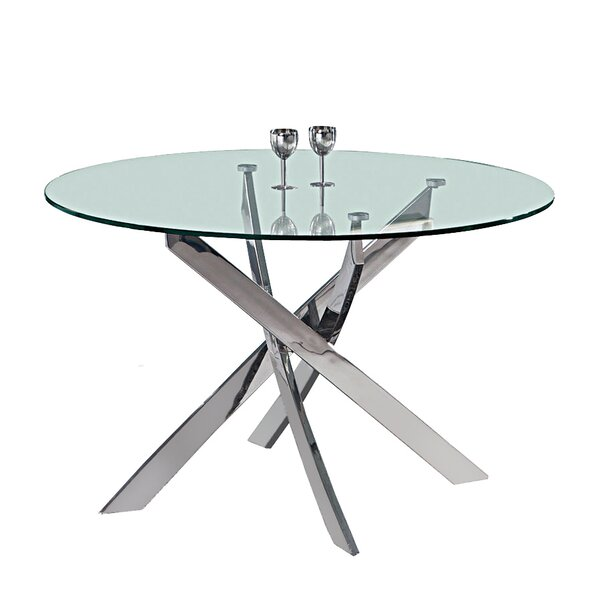 Shirlene Round Dining Table By Everly Quinn