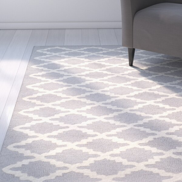 Charlenne Hand-Tufted Wool Silver/Ivory Area Rug by Zipcode Design